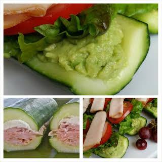 Submarine Sandwiches on English Cucumber.