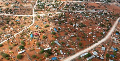 An aerial view of Wajir county. /FILE
