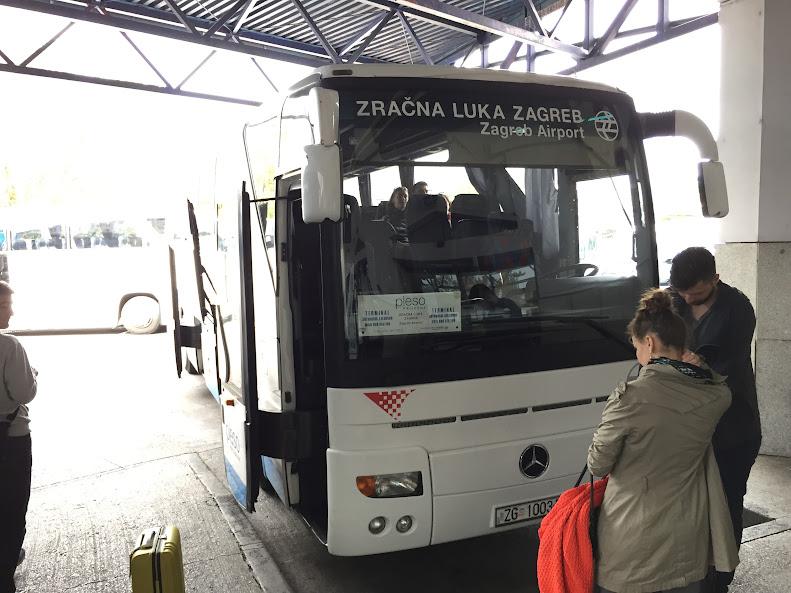ザグレブ 空港行きバス