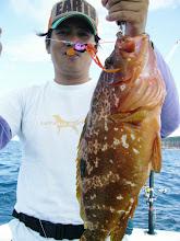 Photo: クスダさんお勧めのタイラバ・・・名前何でしたっけ? 2.1kgありました!