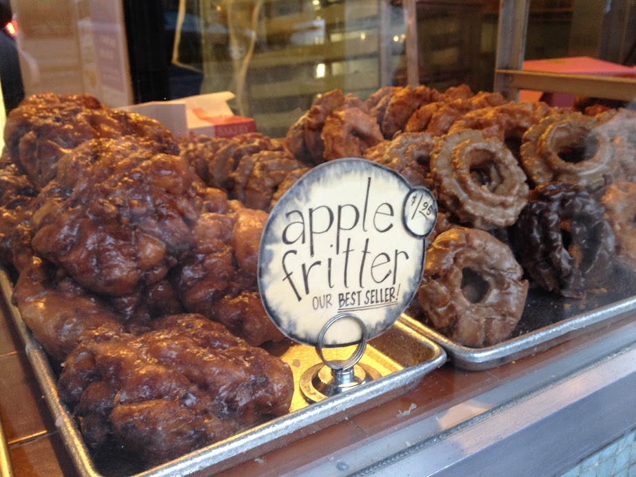 Apple fritters from Bob's Donut