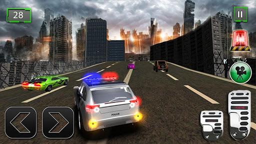 警察の追跡街頭犯罪3D