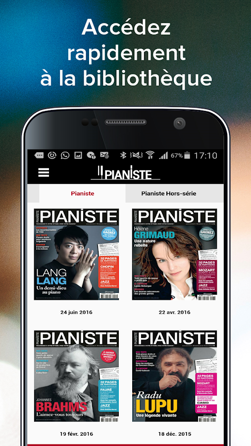 Pianiste - Magazine – Capture d'écran