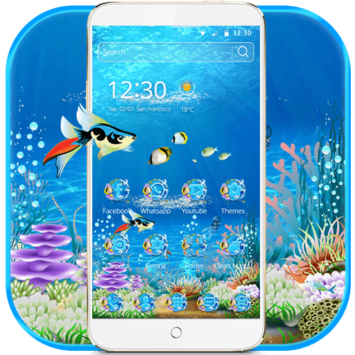 Sea Water Aquarium Theme