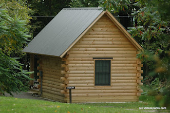 Photo: Log cabin at Grand Isle State Park by Patrick Henry