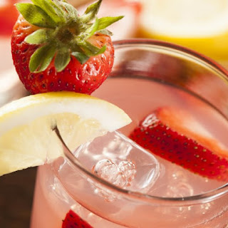 New Year's Strawberry Champagne Punch.