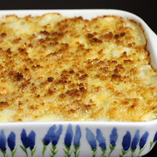 Classic Au Gratin Potatoes With Cheese.