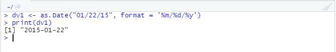 """This image shows the use of """"%y"""" when the input data has a year value in two digits."""