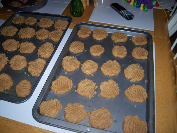 One Of Our Favorite's We Have Other Peanut Butter Cookies Recipes To. Found This One Frist So Here It Is.payton Helped And Baby Trenton Sat In His Hichair To Help.