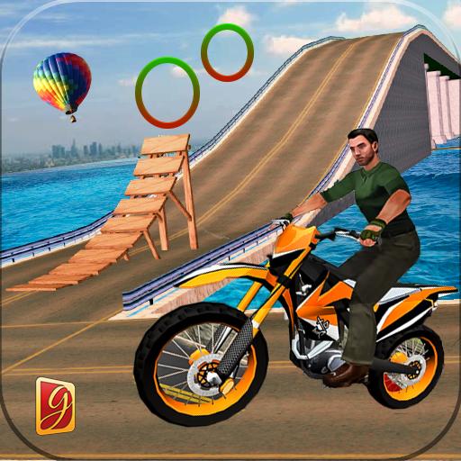 Moto Beach Jumping Bike Stunt