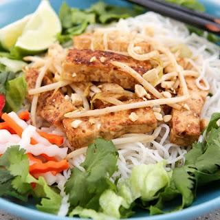 Lemongrass Tofu and Rice Noodles (Bun Dau Hu Xao).