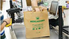 Bolsa de papel que ya ofrece Mercadona en algunos supermercados españoles.