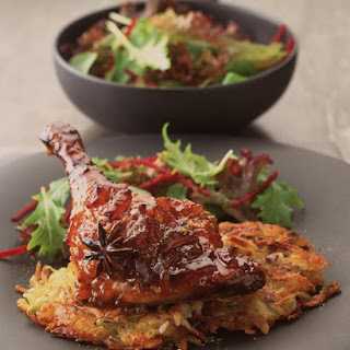 Roast Duck Legs with Star Anise and Potato Rösti