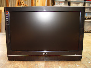 """Photo: After looking at about 20 new TV's in the 26"""" range I chose this LG model because the front was clean and void of buttons and the speakers were at the front on the bottom."""