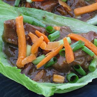 Mongolian Beef Lettuce Wraps