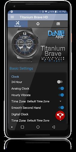 Titanium Brave HD WatchFace Widget Live Wallpaper 4.8.1 screenshots 4