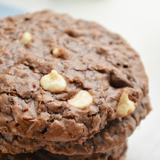 Chewy Brownie Oatmeal Cookies.