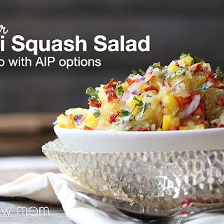 Spaghetti Squash Salad - low carb & paleo, with AIP options.
