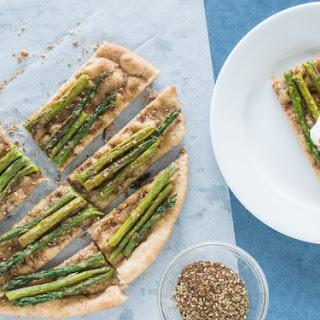 Griddled Spelt Flatbread with Asparagus & Za'atar.