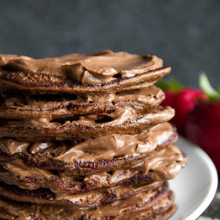 Double Chocolate Greek Yogurt Pancakes