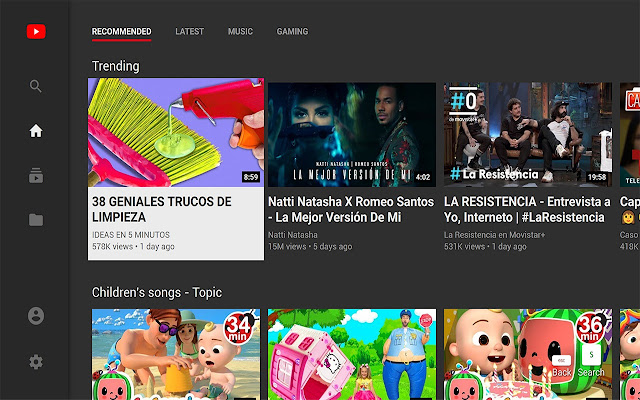 YouTube™ for TV
