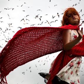 Aksena by Oleg Bagmutskiy - People Portraits of Women ( red, lady, women )
