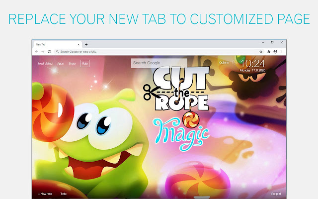 Cut The Rope Wallpapers New Tab freeaddon.com