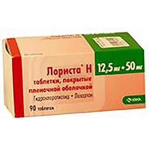 Лориста Н таблетки п.п.о. 50мг+12,5мг 90 шт.