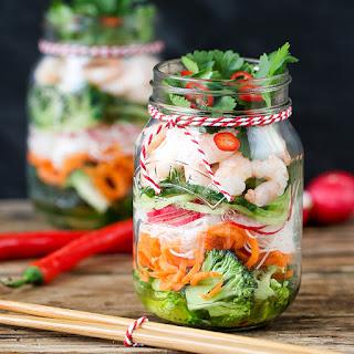 Thai Prawn Spiralizer Salad.