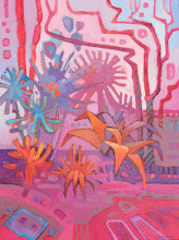 "Photo: ""Dream Garden"", acrylic on canvas, 16"" x 12"", © Nancy Roberts"