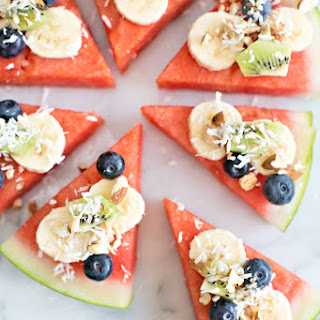 WATERMELON FRUIT AND NUT PIZZA.