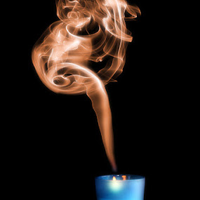 Beautiful Blur by Allan Opguar - Abstract Fine Art ( candle, allan opguar, angeles city, philippines, smoke, fire )