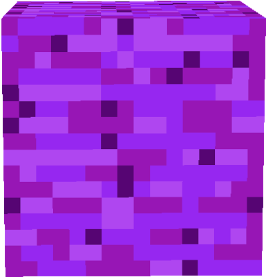 This is the perfect block if you love purple and you want to design your house without people stealing and breaking your blocks use this purple bedrock (our motto: It looks good)