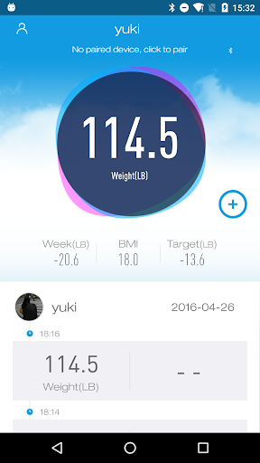 iTek Health Scale screenshot