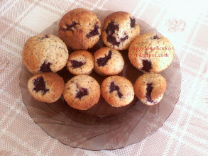 Photo: Fekete szedres muffin recept