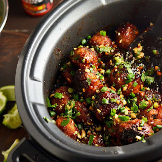 Slow-Cooker Sticky Thai Meatballs.