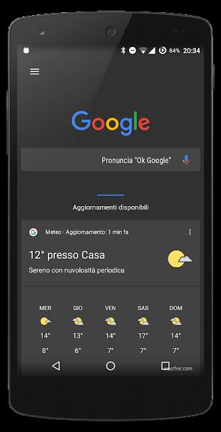 Android N Dark theme Layers- screenshot thumbnail