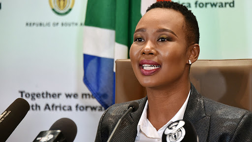 Stella Ndabeni-Abrahams, communications and digital technologies minister.