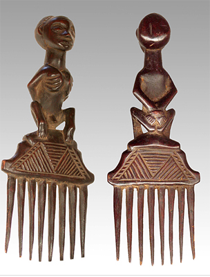 Photo: This comb shows a man, either prisoner or slave, being held naked, with his hands tied behind his back and whip marks on his chest. It is an artifact of King Leopold II of Belgium's heart of darkness, his crimes against humanity.