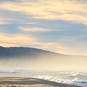 Foggy Morning by Anne-Marie  Fuller  - Landscapes Beaches ( coast, coastline, seascape, nature, clouds, nature photography, fog,  )