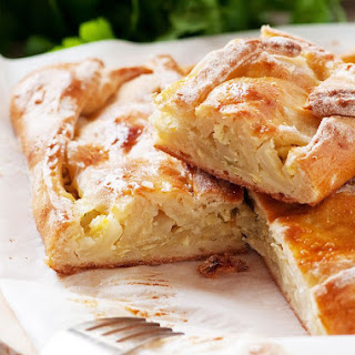 Ukrainian and Slovak Pagach Bread (Pagac).
