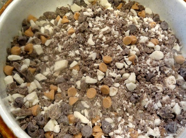 Mix bark and all candy ingredients together