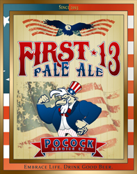 Logo of Pocock Brewing Company First 13