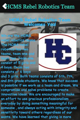 HCMS Rebel Robotics Team