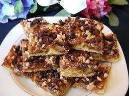 Chocolate Toffee Crescent Bars Recipe