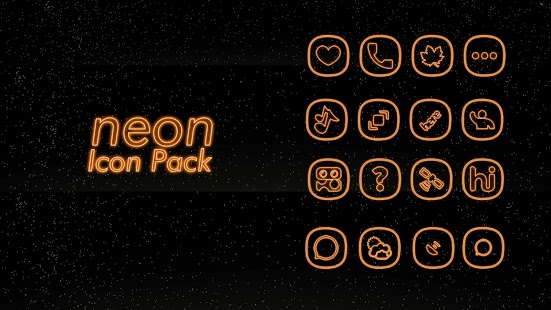 Orange - icon packs for phones android Screenshot