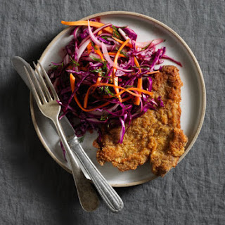 Beef Milanese with Winter Slaw