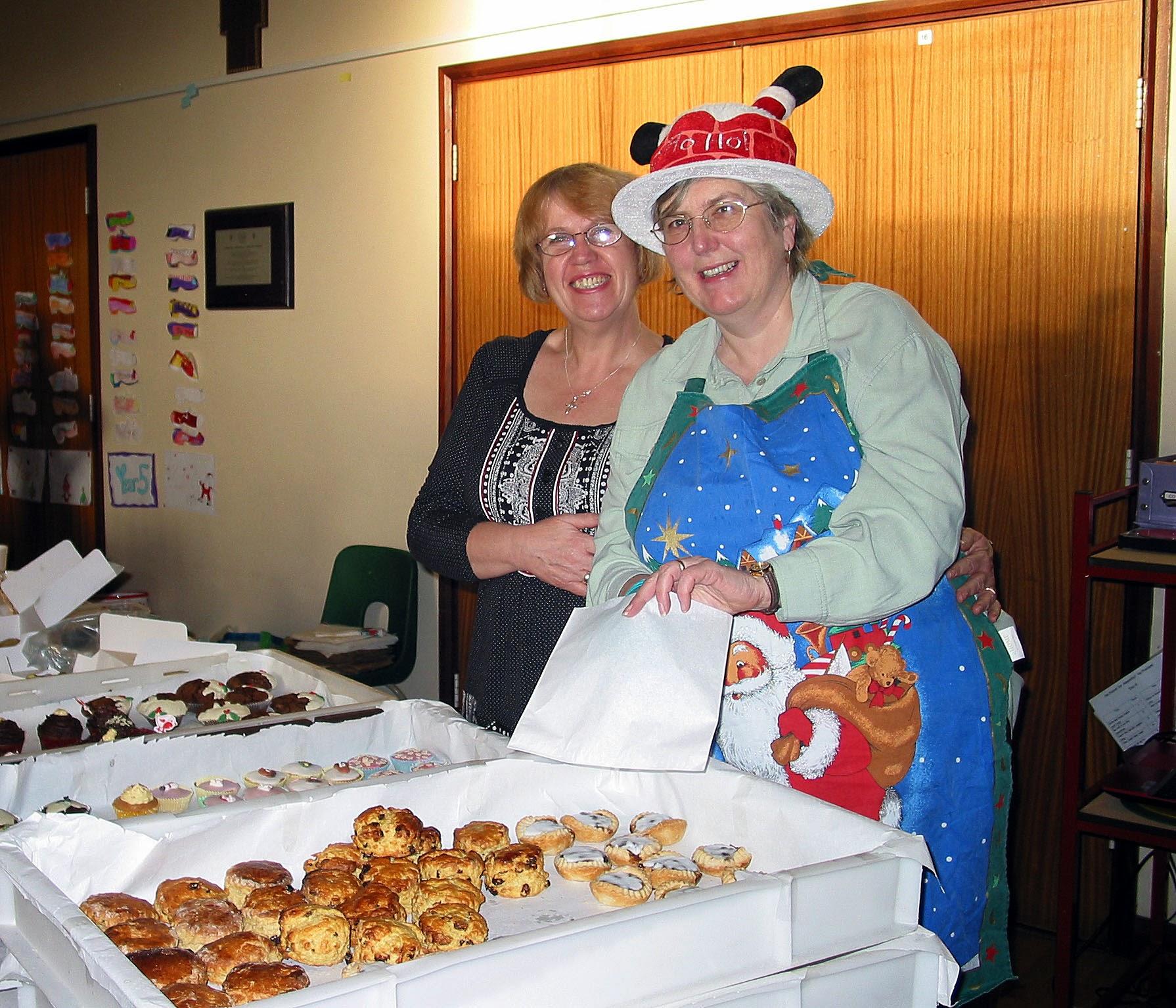 Photo: Sheila & Sandra at the Cake Stall