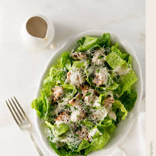Caesar Salad with Grilled Ras el Hanout Chicken.
