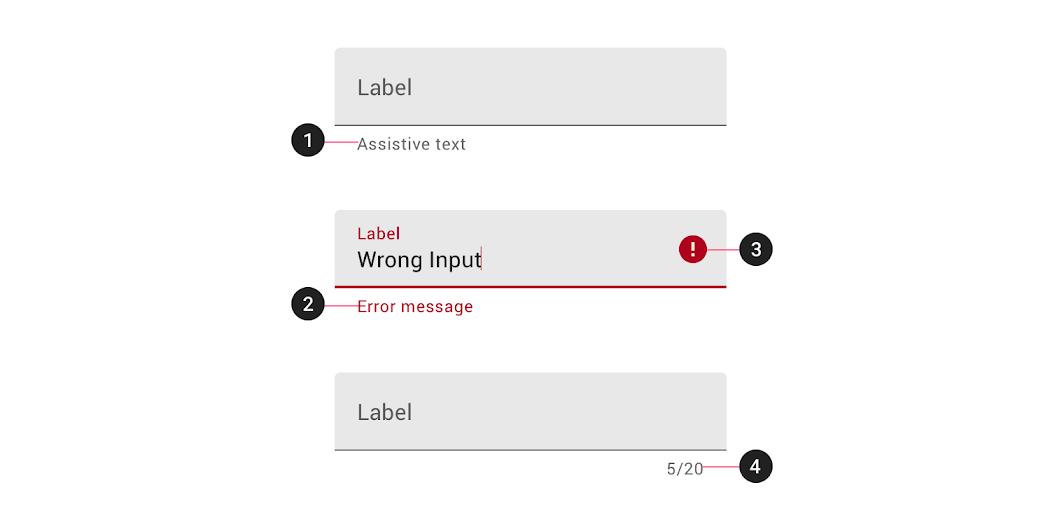 Text Fields Material Design